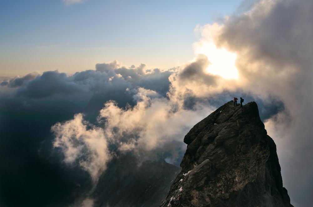 Hochtouren der Alpen, Mittelleggigrat in den Westalpen, Copyright Ralf Gantzhorn