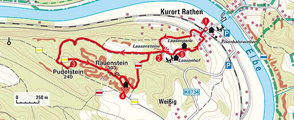 Tour Auf den Rauenstein Karte @ Freytag-Berndt