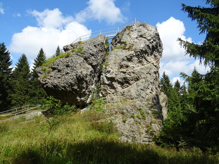 Der Topasfelsen Schneckenstein © Franziska Rößner