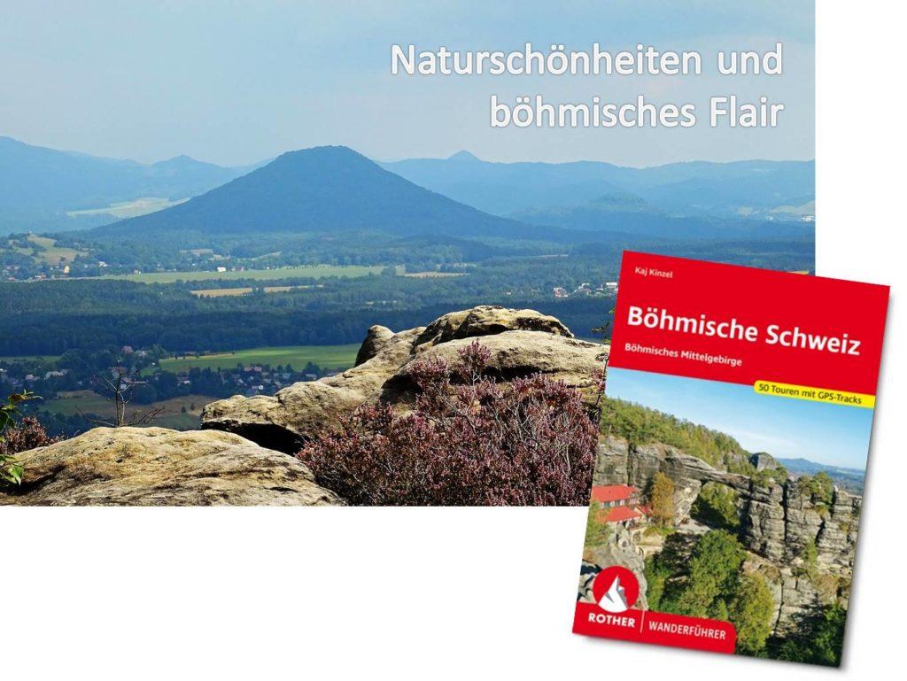 Böhmische Schweiz mit dem Rosenberg, ein Teil des Elbsandsteingebirges