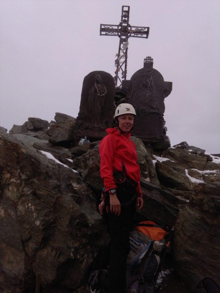 Am Gipfel des Monviso, Monte Viso, Cottische Alpen, Piemont, Italien