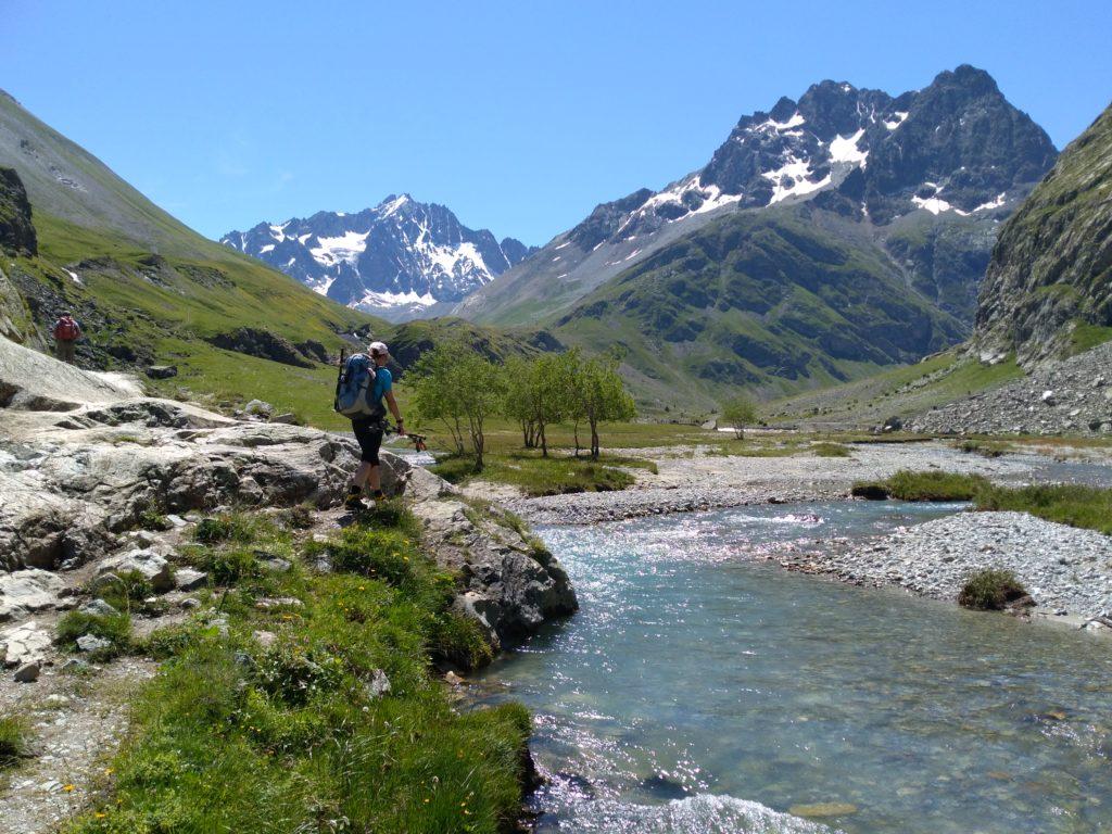 Zustieg zur Hütte Regufe Adèle Planchard, Grande Ruine, Dauphiné, Nationalpark Écrins, Französische Alpen, Hochtour