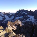 Blick vom Gipfel der Grande Ruine auf die Meije, Dauphiné, Französische Alpen, Hochtour
