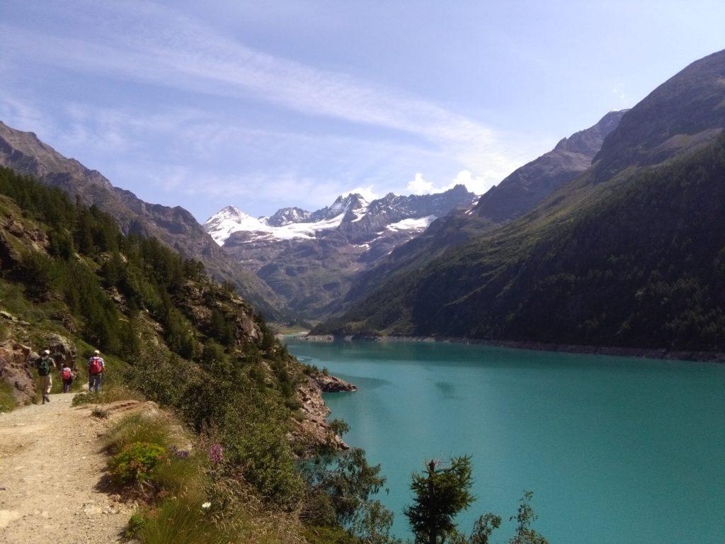 Zum Rifugio Aosta von Bionaz, Aostatal, Wallis, Viertausender, Hochtour