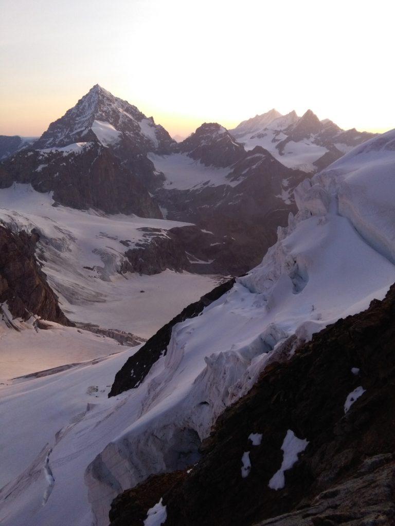 Blick auf die Dent Blanche, Aostatal, Wallis, Viertausender, Hochtour
