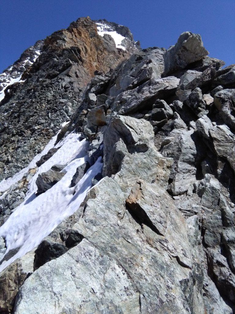 Am Westgrat, Kletterei Schwierigkeit bis III