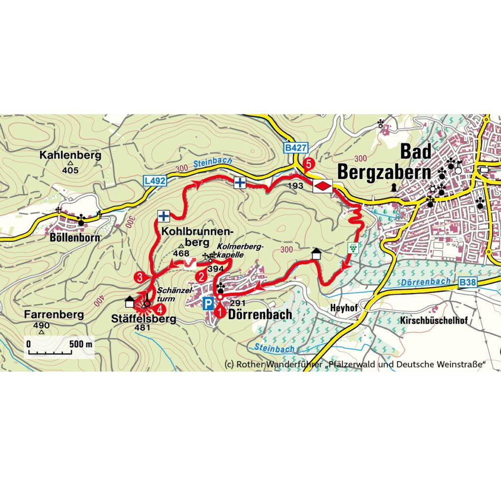 Route Herbstwanderung Pfalz