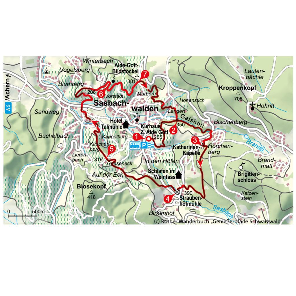 Route Herbstwanderung Ortenau Genießerpfade Schwarzwald